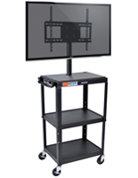Rolling Media Cart, Holds Monitors Up to 42""