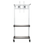 Durable Crank Adjustable TV Cart