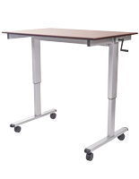 Crank Adjustable Desk w/ Lockable Casters