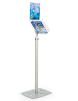 Silver Magazine Tray Stand for Promotional Materials