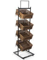 4 Level Basket Display with Header