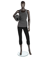 Metallic Female Mannequin in Standing Pose
