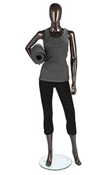Metallic Female Mannequin with Bent Arm