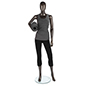 Metallic Female Mannequin with Bent Knee