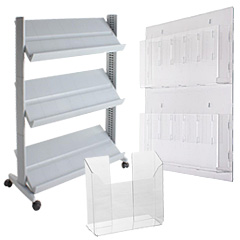 Magazine Holders in Plastic or Acrylic
