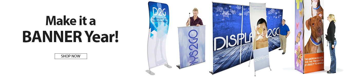 Lots of new and exciting banner displays for retail marketing and advertising