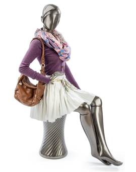 Dress mannequins so customers can visualize your merchandise