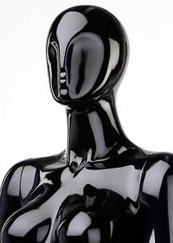 Stylized mannequin with gloss black finish