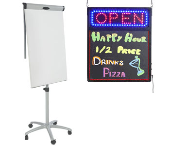 marker and chalk boards