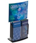 "Convex Sign Holder & Brochure Display with 11"" x 8.5"" Header"
