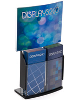 Upscale Convex Sign Holder & Brochure Display