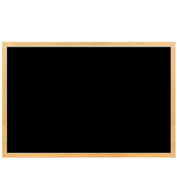 Black Chalkboard With Chalk & Eraser