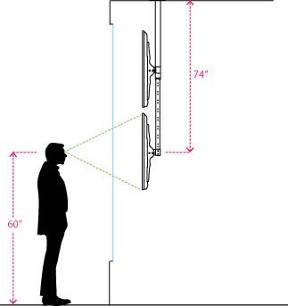Tv Ceiling Mounts 2 Adjustable Brackets For Screens 32