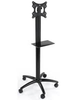 Black Single Pole TV Stand