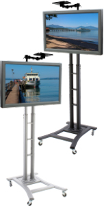 Rolling TV Stands are Perfect for Use as Mobile Workstations!