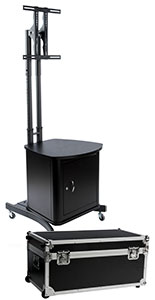 storage kitchen cabinets portable tv racks trade show monitor stands with 26882