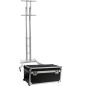 Silver Portable TV Stand with Case
