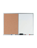 Dry Erase Markerboards with Combo Cork Board