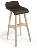 28 Inch Barstool with Lip Back