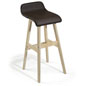 28 Inch Barstool with Brown Seat
