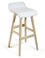 Modern Design Bar Stool with Lip Back