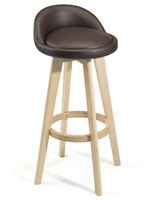 Bar Stool Chair with Wood Base