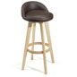 Bar Stool Chair with Brown Seat
