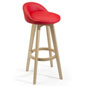 Modern Red Barstool with Leatherette Seat