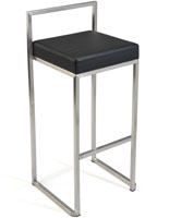 Metal Frame Stool Black Seat