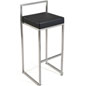 Metal Frame Stool with PU Leather