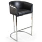 Bucket Barstool with Faux Leather