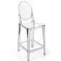 Clear Ghost Counter Stool with Footrest