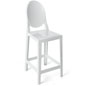 White Ghost Counter Stool with Footrest