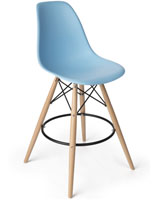 Eiffel Barstool with Blue Seat