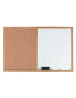 White Dry Erase Board with Oak Frame