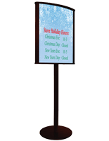 "22"" x 28"" Curved Wood Poster Stand"
