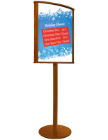 Double Sided Wood Poster Stand, Sturdy Construction