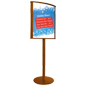 Durable Double Sided Wood Poster Stand