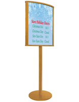 Top Loading Oak Wood Sign Stand