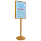 Oak Wood Sign Stand for High Traffic Areas