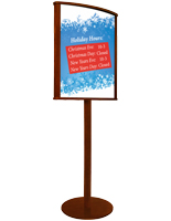 Double Sided 22 x 28 Wooden Sign Stand