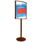 22 x 28 Wooden Sign Stand for High Traffic Areas