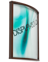 Curved Wooden Poster Frame, Wall Mountable