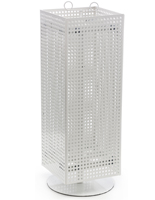 White Pegboard Display Stand- Rotating