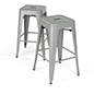 Modern Metal Counter Stools with Industial Design