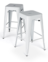 Modern Metal Stools with Steel Frame