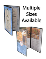 This Menu Cover is Available in Multiple Sizes