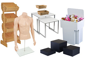 Commercial merchandising displays