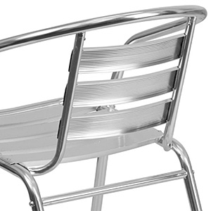 Closeup of a Metal Cafe Chair