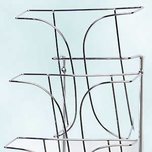 metal magazine rack
